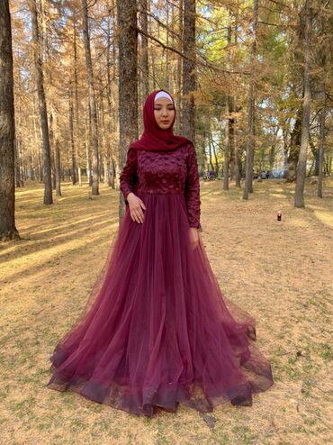 Продаю вечернее платье. Размер 42-44.Цвет марсал