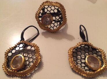 корабли ручной работы в Азербайджан: Комплект из Стерлингового Серебра 925, кольцо18 размера Натуральный