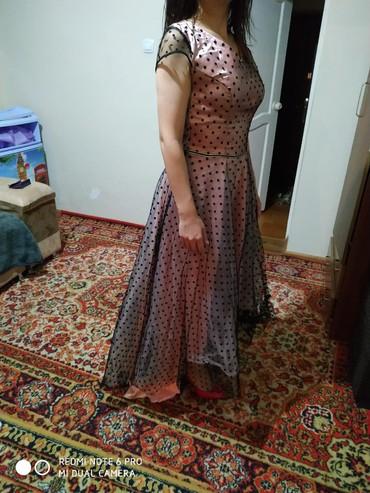 блузка в горошек в Кыргызстан: Продаю платье новое красивое,розовое в горошек