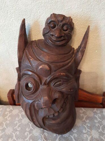 Продаю маску из натурального дерева баобаба, защищает и оберегает дом