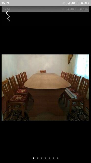 СРОЧНО!!!! Стол и 12 стульев. Всё в отличном состоянии. Коврики в