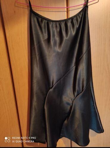 Σατέν φούστα size medium midi