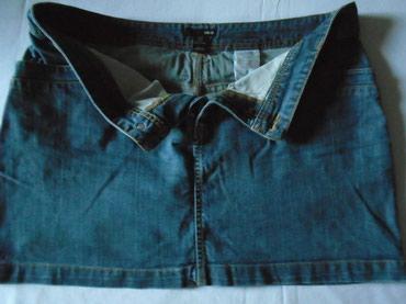 Suknja struka od - Srbija: H&M mini suknjica od teksasa, pamuk 100 %, veličine 44. Poluobim