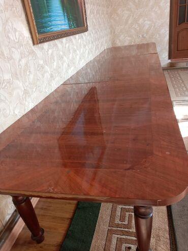 советский раскладной стол в Кыргызстан: Стол гостевойпокрытие ореховыйразмер 5 метровделится на 3отдам