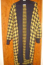 Kaput-vuna - Srbija: Dugačak dzemper kaput --NOV  100% vuna ručni rad -- sirogojno