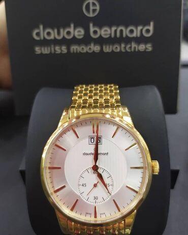 Золотистые Мужские Наручные часы Claude Bernard