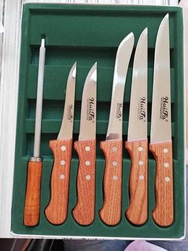Odlican set od 5 noževa+ Oštrač nozeva. - Zajecar