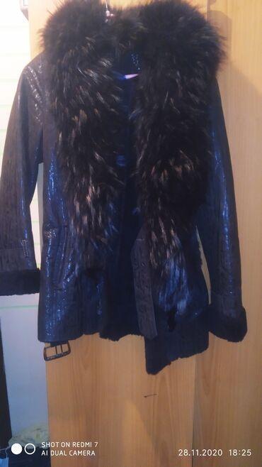 вечерние платья серого цвета в Кыргызстан: Срочно продаю натуральную дублёнку хороший цвет 46 размер подарок