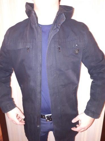 удлиненную кофту в Кыргызстан: Муж теплая удлиненная куртка МЕХХ с капюшоном на осень и весну. размер