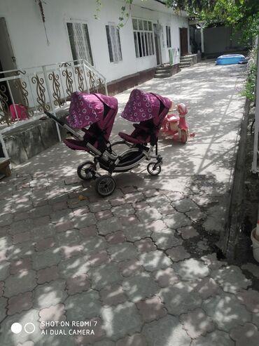 Детский мир - Ош: Детский коляска для двойняшки велосипед в подарок