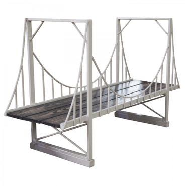 """Подставка для книг """"Мост""""Материал: каркас - металл, столешница - ЛДСП"""