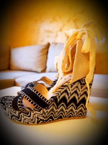 Nove sandalice na vezivanje.Platforma 12,5cm, broj 39 (gaziste