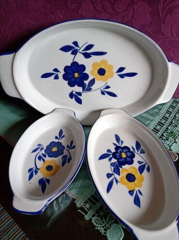 Porcelan - Srbija: Porcelanski nov komplet za serviranje. Najveci
