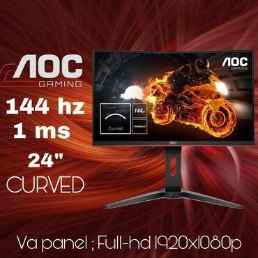 "oyun kompyuterleri в Азербайджан: ""Monitor AOC C24G1 144hz 24""(inch) VA panel,HDR curved"" oyun monitoru"