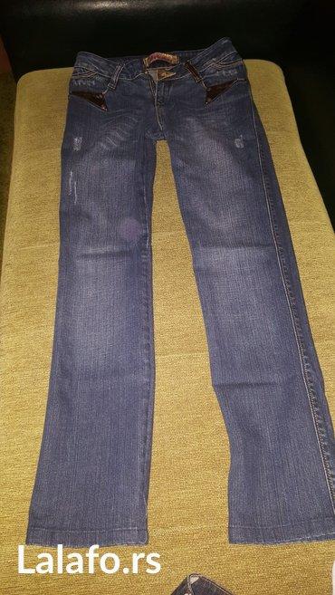 Pantalone-farmerice-br - Srbija: Farmerice malo nosene, u odlicnom stanju, 28 broj, duzina nogavice od