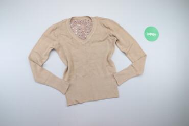 Жіночий пуловер з мереживною вставкою на спині    Довжина: 53 см Ширин