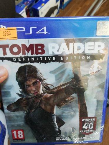 Bakı şəhərində Tomb Raider Ps4 oyun diski