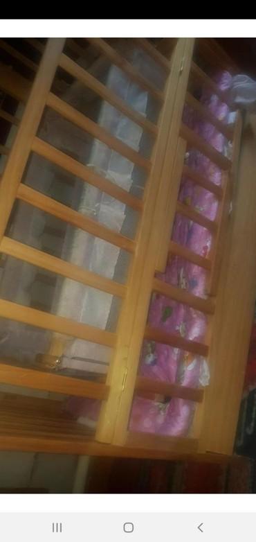 Кровать с галькой!состояние хорошее.матрас в подарок в Лебединовка - фото 2