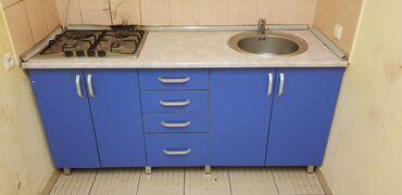 Кухонный мебель б/у с газ плитой