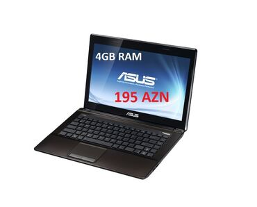 2 gb videokartali Asus K43 noutbuku satilir Ram 4gbHard disk