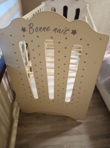 Детская мебель - Бишкек: Продаю Новую детская кровать с маятником качается