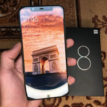 xiaomi mi note 10 цена в бишкеке в Кыргызстан: Б/у Xiaomi Mi 8 64 ГБ Черный