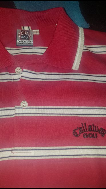 Muska crvena majca - Srbija: Callaway GOLF - California USA collection. Nosena na kratko. pise L