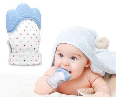 Силиконовая перчатка-прорезыватель для младенцев +бесплатная доставка