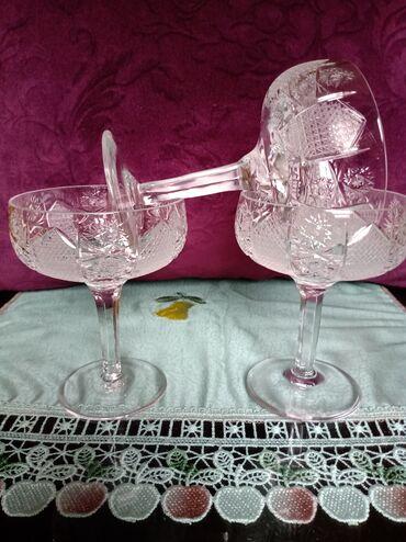 Case nove kristal rucna izrada za vino. proizvodnja Skoplje. komada