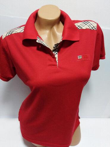 Majica dug - Srbija: BURBERRY majica original 100%,prelepa crvena boja,na svakom dugmetu
