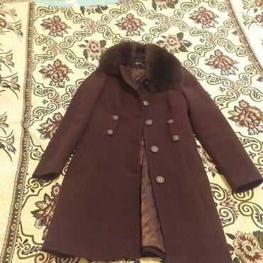 shub naturalnaja ne в Кыргызстан: Продаю кашемировое пальто с натуральным мехом. Подчеркивает талию