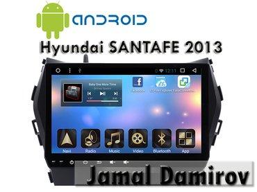 Bakı şəhərində Hyundai santafe 2013 üçün androİd dvd-monitor. Androİd