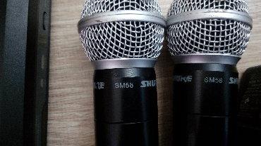 акустические системы promate беспроводные в Кыргызстан: Продаю Shure PG58 2-канальная беспроводная система с 2 -мя