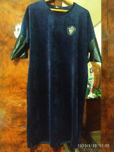платья из велюра в Кыргызстан: Новое, мягкое велюровое платье размер 52-54