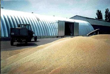 Зернохранилища арочные - ангары из высококачественной оцинкованной