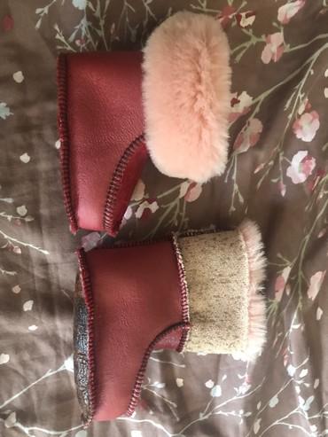 детские пинетки кеды в Азербайджан: Теплые кожанные меховые пинетки 9-12 мес новые