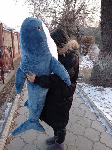 АКУЛА 140 смБольшая и приятная акула станет прекрасным подарком для