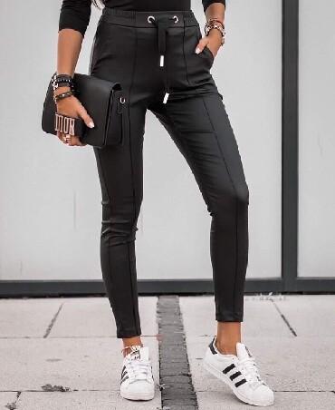 Pantalone zlatne - Srbija: Pantalone od eko koze NOVO!*Nova Kolekcija *Dostupne boje :crna