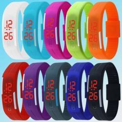 Силиконовый браслет - часы, время дата секунды в Бишкек