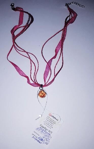 чокер для шеи в Кыргызстан: Красивый чокер с янтарем!!! Сделано в г.Калининград. Доставка по