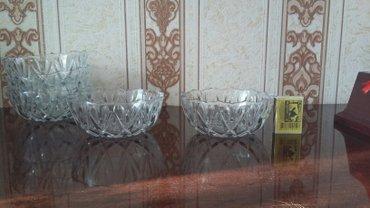 Вазочки-креманки(сахарницы,можно для варенья)стеклянные 6штук в Бишкек