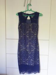 Bela haljina sa cipkom - Srbija: Cipkasta teget haljina sa bez postavom NOVOCipkasta teget haljina sa