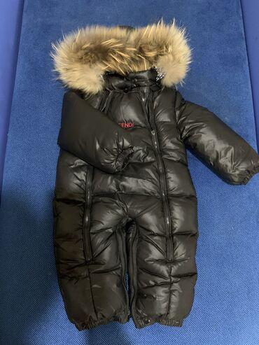 вешалка для верхней одежды бишкек в Кыргызстан: Комбинезон с натуральным мехомочень тёплый и удобныйразмер 9-12