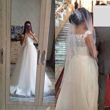 стильные платья для полных девушек в Кыргызстан: Продается / сдается на прокат свадебное платье, очень нежное и