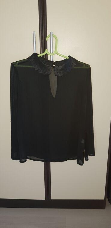 Lagana providna crna kosuljica/bluza, s velicina. bez ostecenja, par