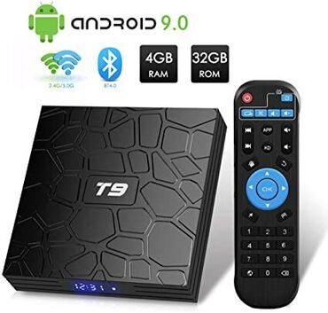 android tv в Азербайджан: T9 Smart TV cihazı ( TV cihaz, Android TV aparatı, internet TV boks