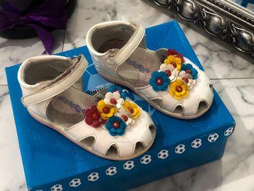⠀ Детские сандали 23 размер Состояние Отличное Лепучка, цветочки