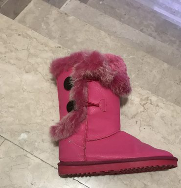 Ugg | Srbija: Roze pink cizme tople postavljene broj 36, mogu na 2 nacinanosene