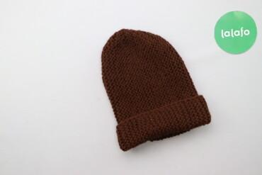 Дитяча в'язана шапка     Напівобхват голови: 22 см  Висота: 26 см  Ста