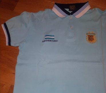 ARGENTINA -  majica sa kragnicom za decake. Svetlo plava sa  belim i - Belgrade